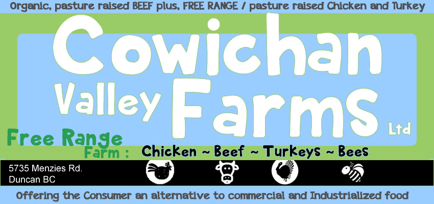 pasture raised free range beef chicken turkey Cowichan Valley